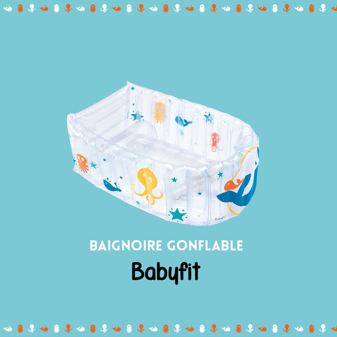 la baignoire gonflable baleine imprim de babyfit. Black Bedroom Furniture Sets. Home Design Ideas