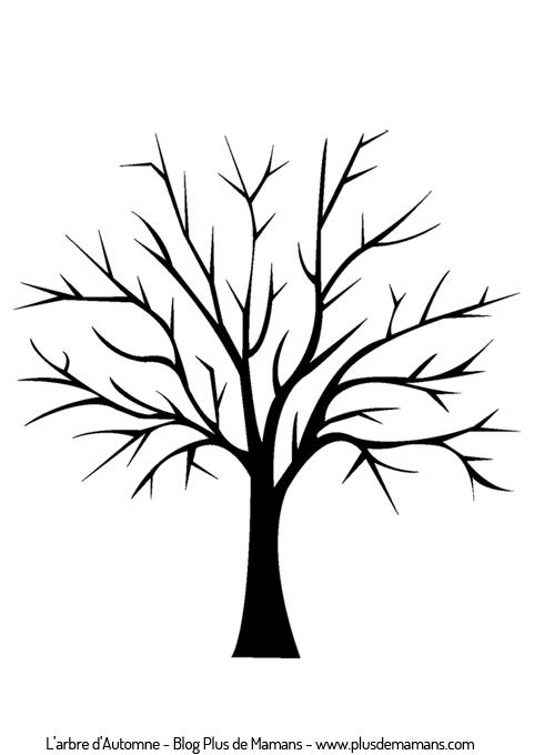 r alise ton arbre d 39 automne ou de printemps en gommettes diy activit s manuelles. Black Bedroom Furniture Sets. Home Design Ideas