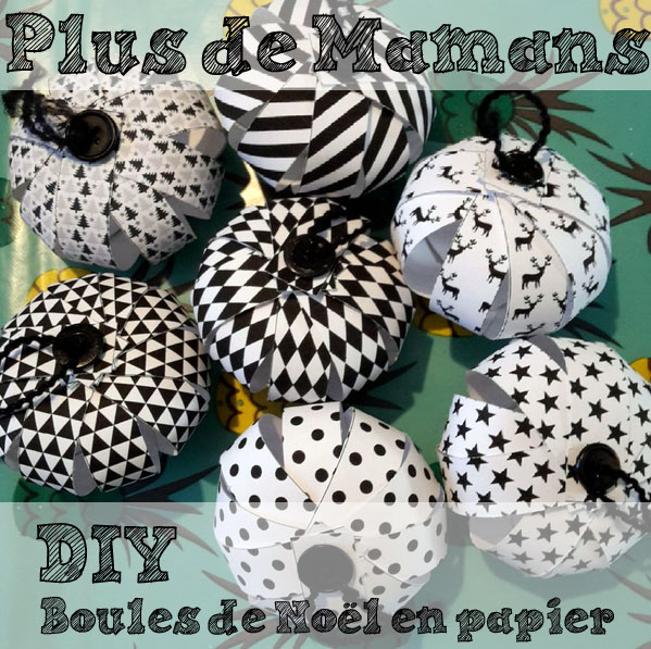 diy des boules de no l en papier t l charger et. Black Bedroom Furniture Sets. Home Design Ideas