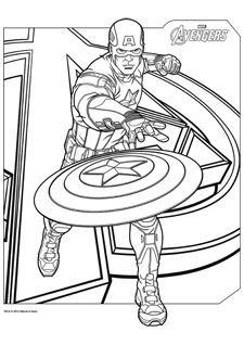 coloriage-capitain-america