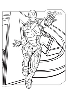 Coloriage Iron Man Plus De Mamans