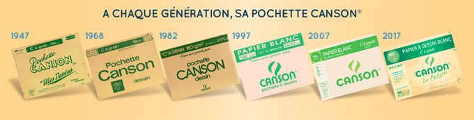 evolution pochette canson