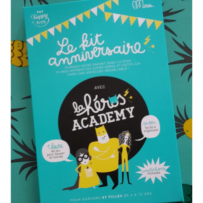 Le Kit Anniversaire La Heros Academy De Happy Kits Et Minus