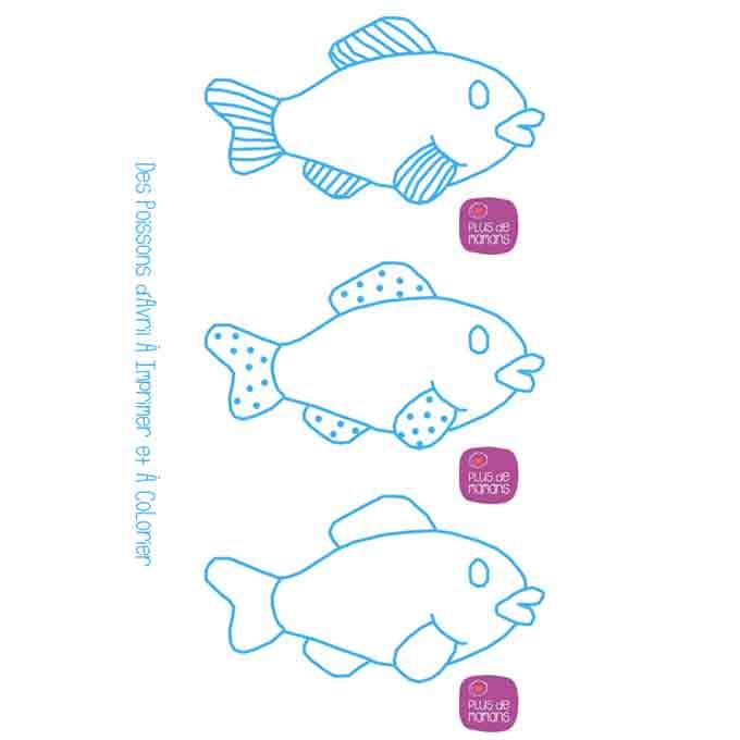 poissons avril imprimer